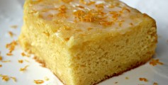 Image of a Slice of Lemon Cake with Lemon Glaze