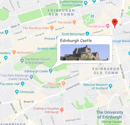 Edinburgh Castle Map